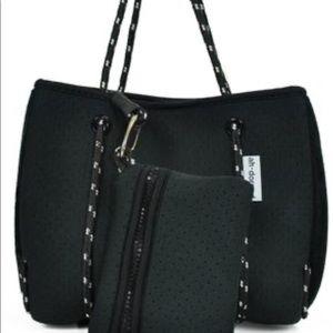 Handbags - Ah-Dorned Neoprene Mini Tote Black